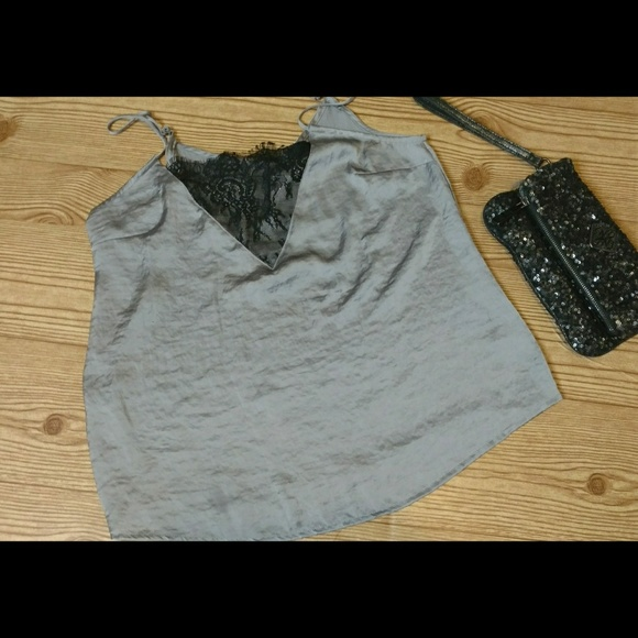 Mudd Tops - Mudd camisole with black lace details NWOT